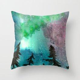 Northern Lights - Mint Green Palette Throw Pillow