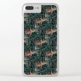 Bunny medieval tapestry Clear iPhone Case