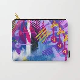 Wave purple Carry-All Pouch