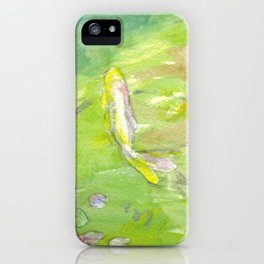 Small Koi Pond 8 iPhone Case