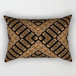 Abstract 355 a bronze tone geometric Rectangular Pillow