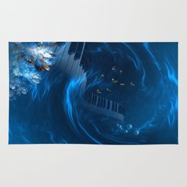 Blue coral melody  Rug