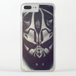 Darth Maul pen drawing Clear iPhone Case