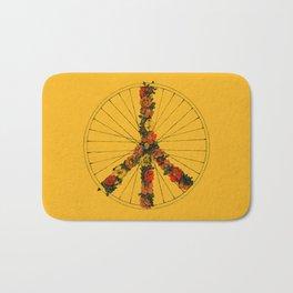 Peace & Bike (Colors) Bath Mat