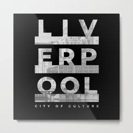 Jersey Liverpool England London UK Urbanes Metal Print