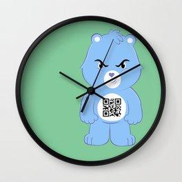 Honey bear qr Wall Clock