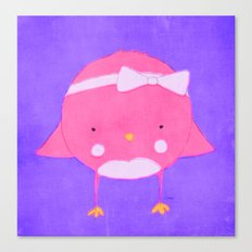 Girly Sportie Birdie Canvas Print