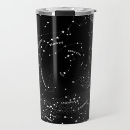 Constellation Map - Black Travel Mug