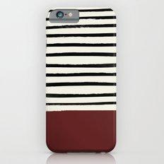 Dark Ruby & Stripes iPhone 6s Slim Case