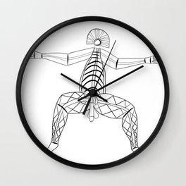 virility - rock painting Wall Clock