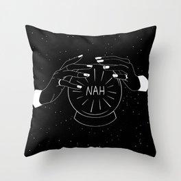 Nah future - crystal ball Throw Pillow