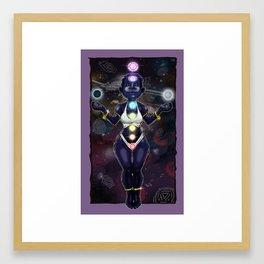 Chakra Woman Framed Art Print