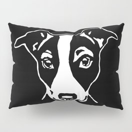 A HAPPY JACK  RUSSELL TERRIER CHRISTMAS FROM US AT MONOFACES  Pillow Sham
