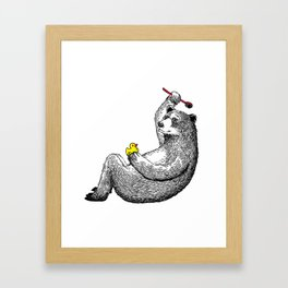 Bear Shower Curtain Framed Art Print
