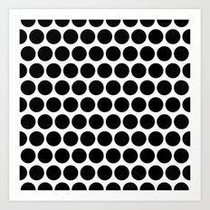 Graphic_Polka Dots  Art Print