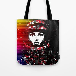 Astronaut Chick Tote Bag