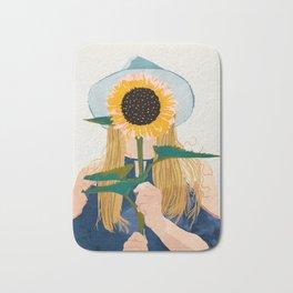 Miss Sunflower || Bath Mat