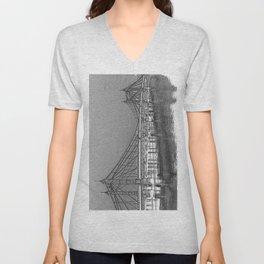 Albert Bridge London Digital Art Unisex V-Neck