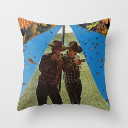 About last night Throw Pillow