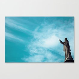 Sky/Statue#1 Canvas Print