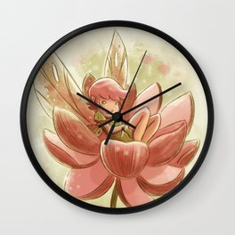 Goblins Drool, Fairies Rule! - Petal Flower Wall Clock