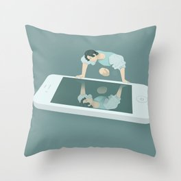 Social Media Narcissism Throw Pillow
