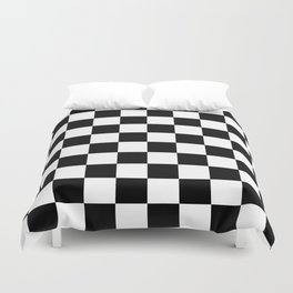 Checkered Pattern: Black & White Duvet Cover
