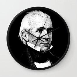 President James K. Polk Wall Clock