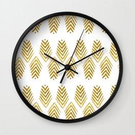 follow the arrow gold Wall Clock