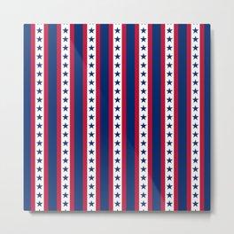 OK USA United States Flag Print Seamless Pattern Metal Print
