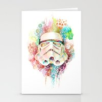 stormtrooper Stationery Cards featuring Stormtrooper by Veronika Weroni Vajdová