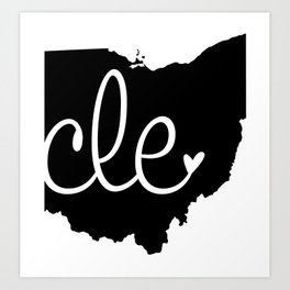 Love Cleveland Art Print