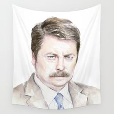 Swanson Watercolor Ron Wall Tapestry