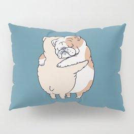 English Bulldog Hugs Pillow Sham
