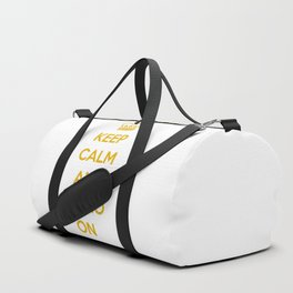 Keep calm and paleo on Duffle Bag
