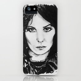 Rock Musician Joan Jett Portrait iPhone Case