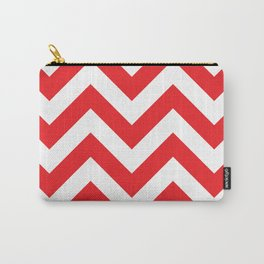 Large chevron pattern / red Carry-All Pouch