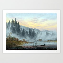 Caspar David Friedrich The Times of the Day, Morning Art Print