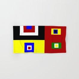 Color Block Color Crazy Retro Vibe Hand & Bath Towel