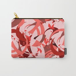 Abstract Curls - Burgundy, Coral, Pink Carry-All Pouch