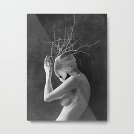 Feminature Metal Print