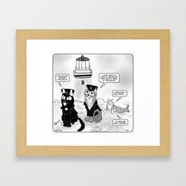 Lighthouse Cats Framed Art Print