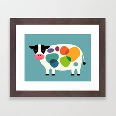 Awesome Cow Framed Art Print