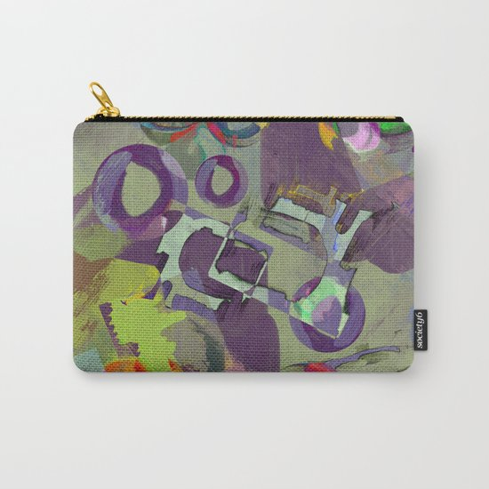Living In A Purple Dream - Abstract, eclectic, random, purple. lilac, pastel artwork Carry-All Pouch