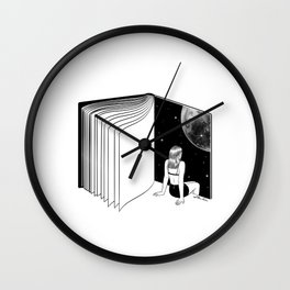 Reading is Dreaming with Your Eyes Open Wall Clock