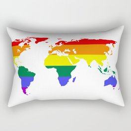 LGBT World (Gay Pride Flag) Rectangular Pillow