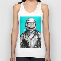 """jfk Tank Tops featuring JFK ASTRONAUT (or """"All Systems Are JFK"""") by Dan Levin's Objects of Curiosity"""