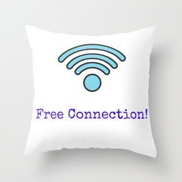 Free Connection Throw Pillow