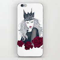evil queen iPhone & iPod Skins featuring Evil Queen by Crecre