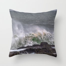 Splash of sea salt. Throw Pillow
